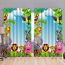 Homecrust 3D Curtain Elegant Curtain Animal Kingdom - 1 pcs