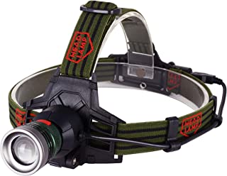 Wolfteeth HL09 LED Headlamp Headlight with Rechargeable Battery,Head Torch Light for Camping, Running and Hiking,3 Brightn...