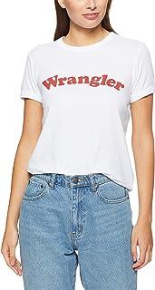 Wrangler Women's Revel Ringer TEE White, White