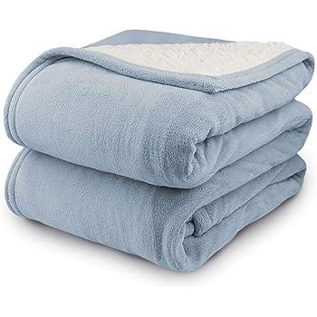 Biddeford 2061-9032138-535 MicroPlush Sherpa Electric Heated Blanket Full Cloud Blue