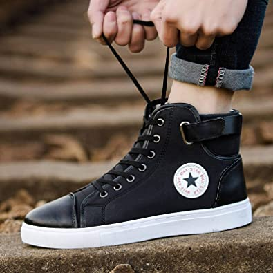 N-B - Scarpe da ginnastica con lacci di grandi dimensioni, scarpe da ginnastica da uomo