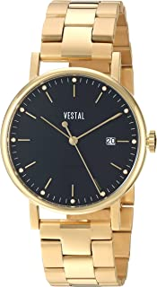 Vestal 'Sophisticate 36 Metal' Swiss Quartz Stainless Steel Dress Watch, Color Gold-Toned (Model: SP36M02.3GDX)