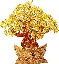 Generic Lucky Tree Feng Shui Crystal Good Luck Stone Buddha Statue Gemstone Crystals Sculpture Home Decor Prosperity Handm...