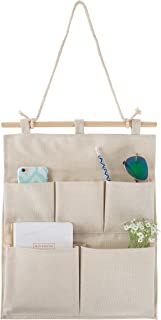 Hanging Wall Organizer- 5 Pocket Fabric Space Saving Storage Hanger for Jewelry, Cosmetics, Keys, Toiletries, Mail, Bills and More by Lavish Home
