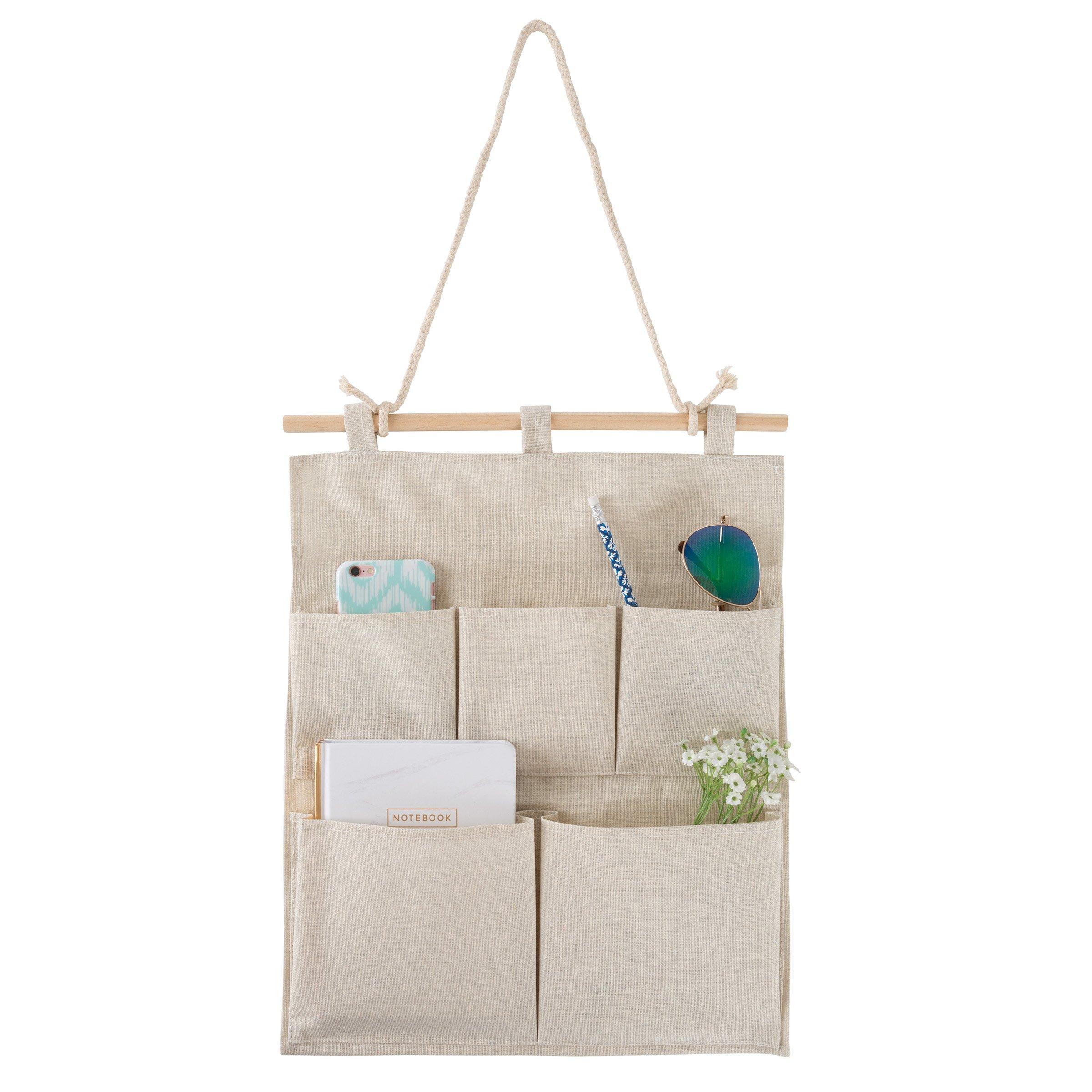 壁掛け用フィニッシャー - 宝石類、化粧品、鍵、トイレタリー、郵便用の5つのポケット織物、リストなど
