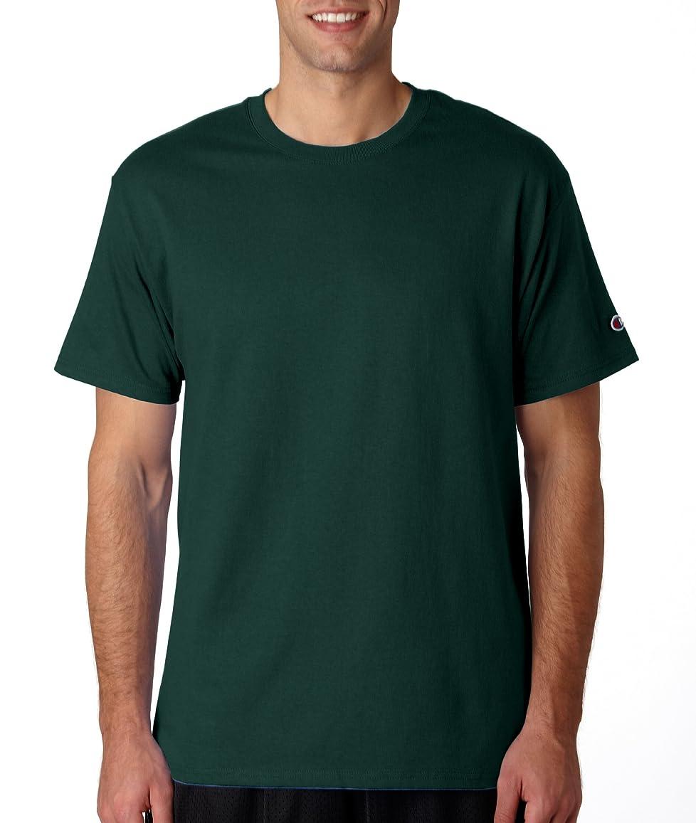 韓国語文字通り起きろChampion SHIRT メンズ US サイズ: Small カラー: グリーン