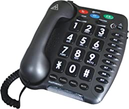 Geemarc Ultra Amplified Corded Telephone, Loudest Telephone Available, Black photo