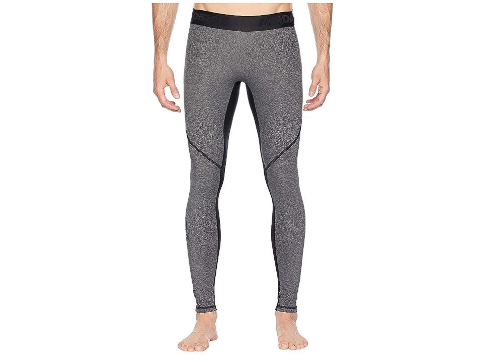 adidas Alphaskin Sport Long Tights (Black Heather) Men