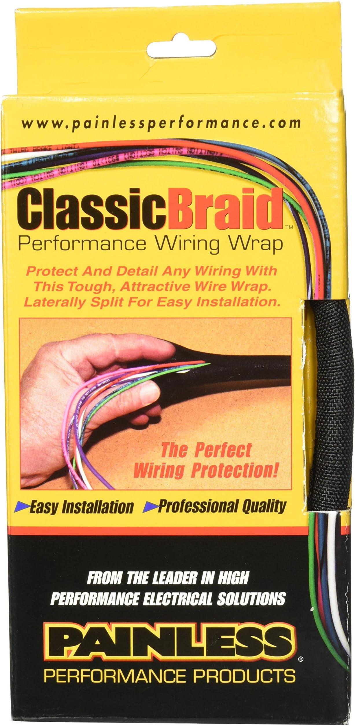 Painless Performance 70959 ClassicBraid 6 Length 3//4 Diameter
