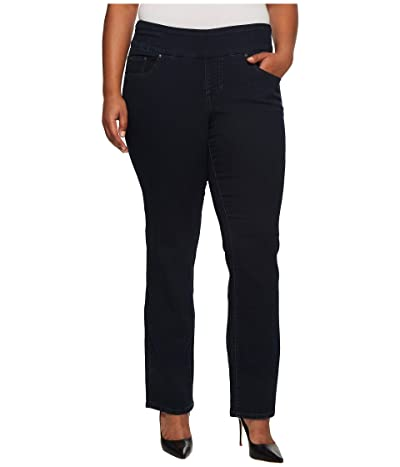 Jag Jeans Plus Size Peri Pull-On Denim Straight Leg Jeans (After Midnight) Women