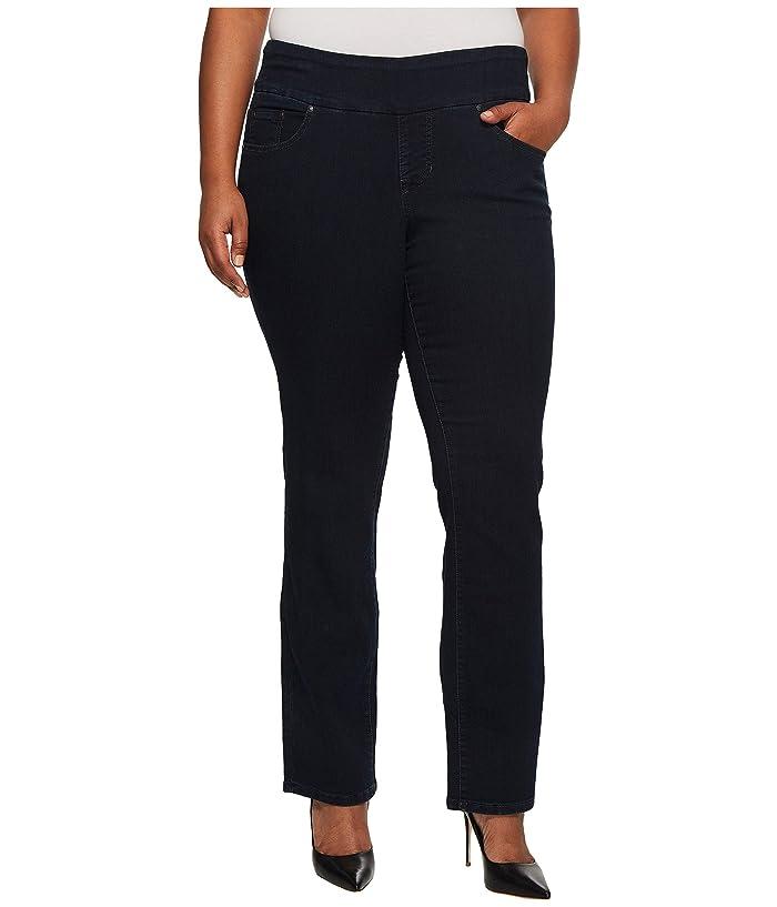 Plus Size Peri Pull On Denim Straight Leg Jeans