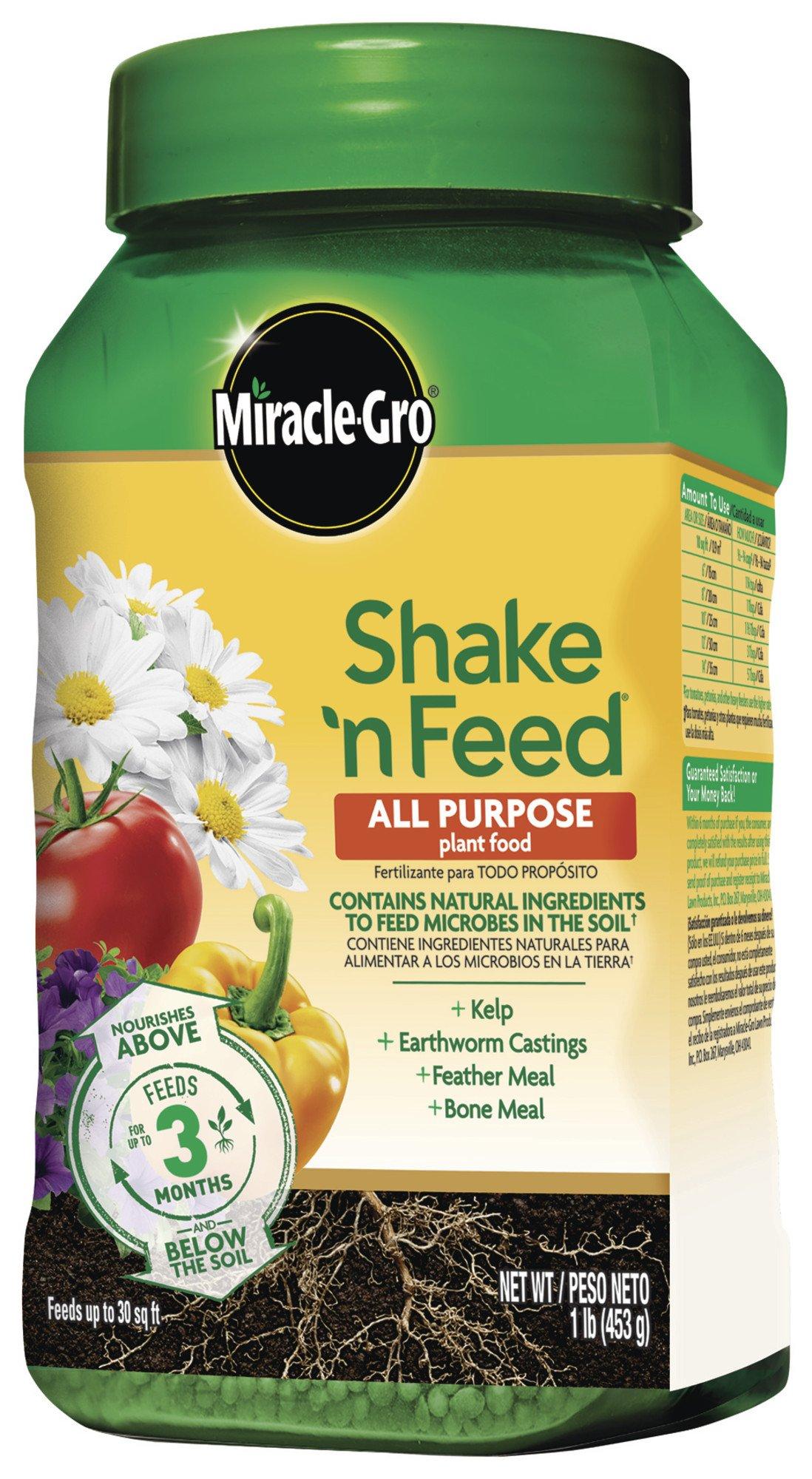 Miracle-Gro Shake N Feed All Purpose Plant Food, 1 lb.