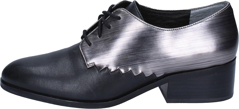 What For For Elegante Schuhe Damen Leder schwarz  Neuheiten