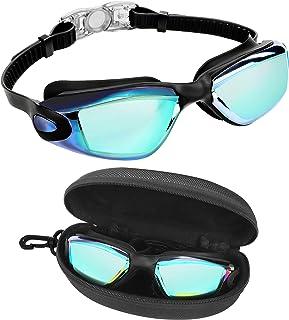Bezzee Pro Duik Bril - UV Bescherming & Anti Aanslag Zwembril met Opslag Doosje – Lek Vrij & Aanpasbare Siliconen Band Voo...