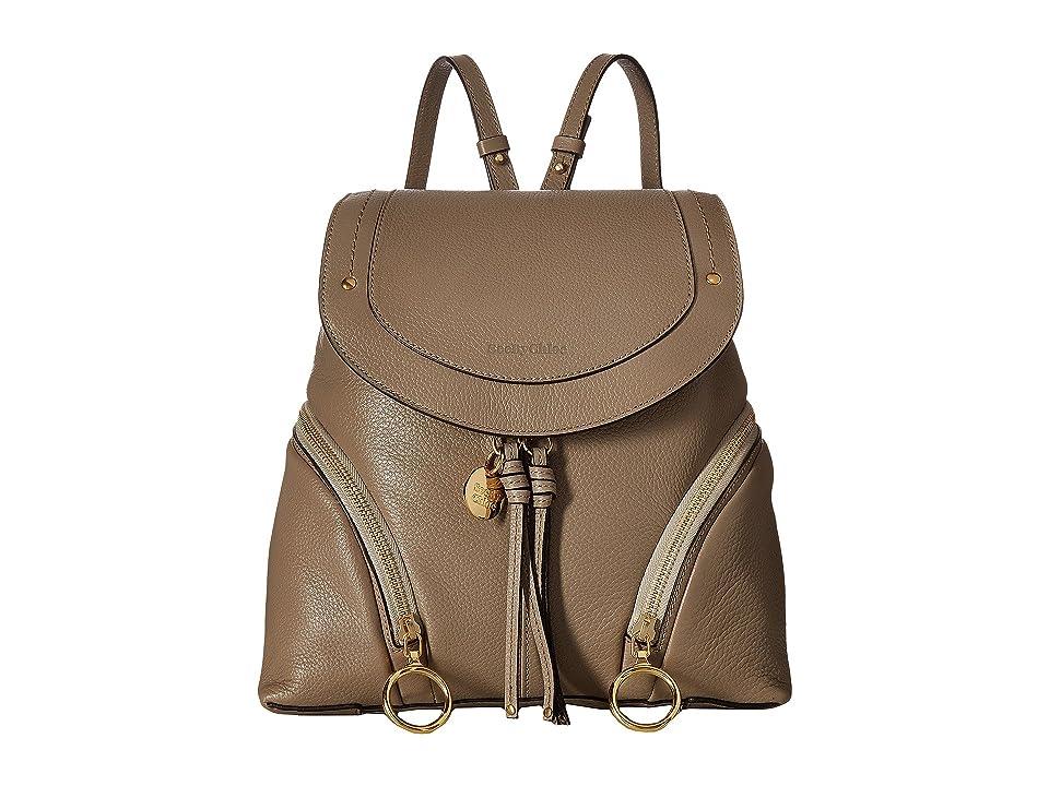 See by Chloe Olga Medium Backpack (Motty Grey) Backpack Bags