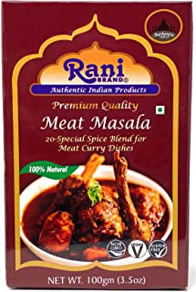 Rani Meat Curry Masala 21-Spice Blend 3.5oz (100g) ~ All Natural | Vegan | No Colors | Gluten Friendly Ingredients | NON-G...