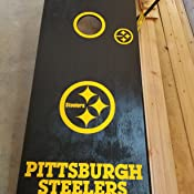 Pittsburgh Steelers Cornhole Decal sticker 4 pc Set package deal!