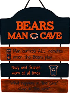 FOCO NFL Mancave Team Logo Man Cave Hanging Wall Sign