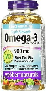 Webber Naturals Triple Strength (Omega 3) 900 Mg 200 Softgels, 200 Count