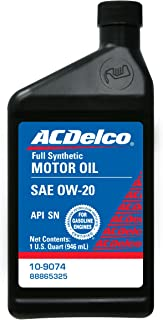 ACDelco 10-9074 0W-20 Synthetic Motor Oil - 1 qt