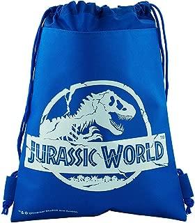 Jurassic World Drawstring Backpack Sling Tote School Sport Gym Bag (Blue)