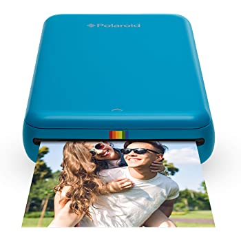 Zink Polaroid ZIP Wireless Mobile Photo Mini Printer (Blue) Compatible w/ iOS & Android, NFC & Bluetooth Devices