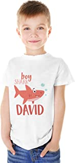 Customized Shark Family | Baby Personalized Name | Youth Boy T-Shirt