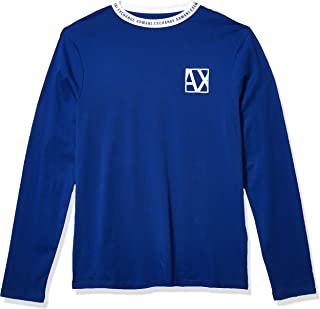A|X Armani Exchange Men's Jumper with AX Logo on Neck