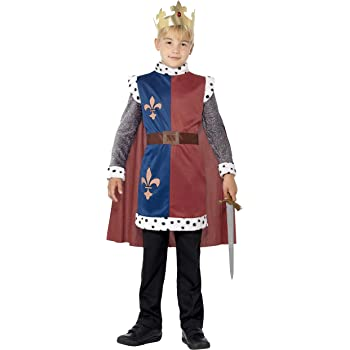 SmiffyS 44079S Disfraz Medieval Del Rey Arturo Con Túnica Capa Y ...
