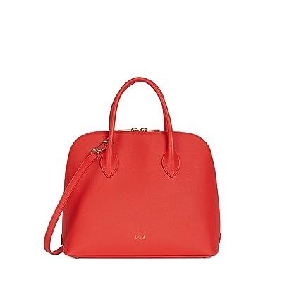 Furla Code Medium Dome (Fuoco) Handbags