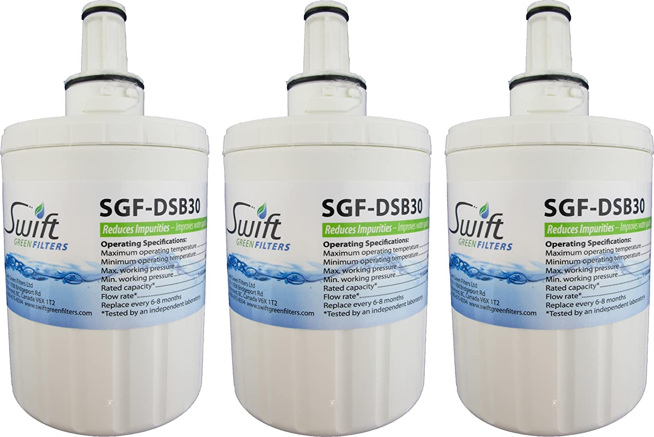 Swift Green Filters SGF-DSB30 Refrigerator Water Filter, 3-Pack