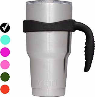 Grab Life Outdoors 30oz Tumbler Handle - Perfectly Fits 30 Oz YETI Rambler, Ozark Trail & Many More - Handle Only (Black)