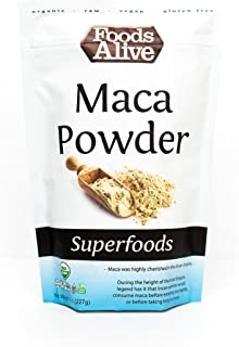 Foods Alive Organic Maca Powder, 8-Ounce Bags (Pack of 2)