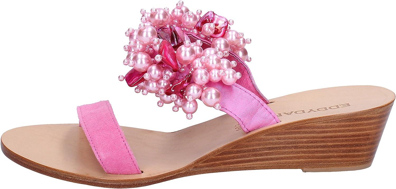 EDDY DANIELE Sandals Womens Suede Pink