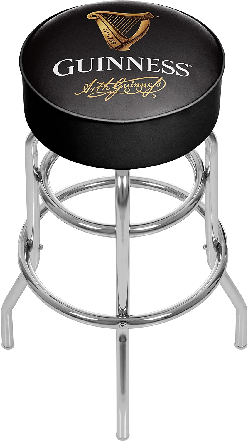 Trademark Gameroom Guinness Chrome Bar Stool with Swivel - Signature