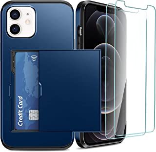 iPhone 6 / 6s Case with Card Holder and[ Screen Protector Tempered Glass x2Pack] SUPBEC i Phone 6/6s Wallet Case Cover wit...