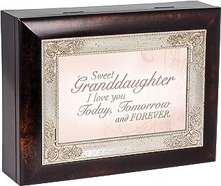 Sweet Granddaughter Dark Wood Finish Jewelry Music Box Plays Tune You Are My Sunshine