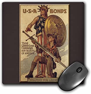 3dRose LLC 8 x 8 x 0.25 Inches Vintage USA Bonds Third Liberty Loan Campaign Boy Scouts of America Mouse Pad (mp_149392_1)