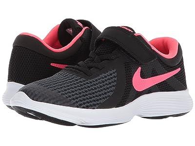 Nike Kids Revolution 4 (Little Kid) (Black/Racer Pink/White) Girls Shoes
