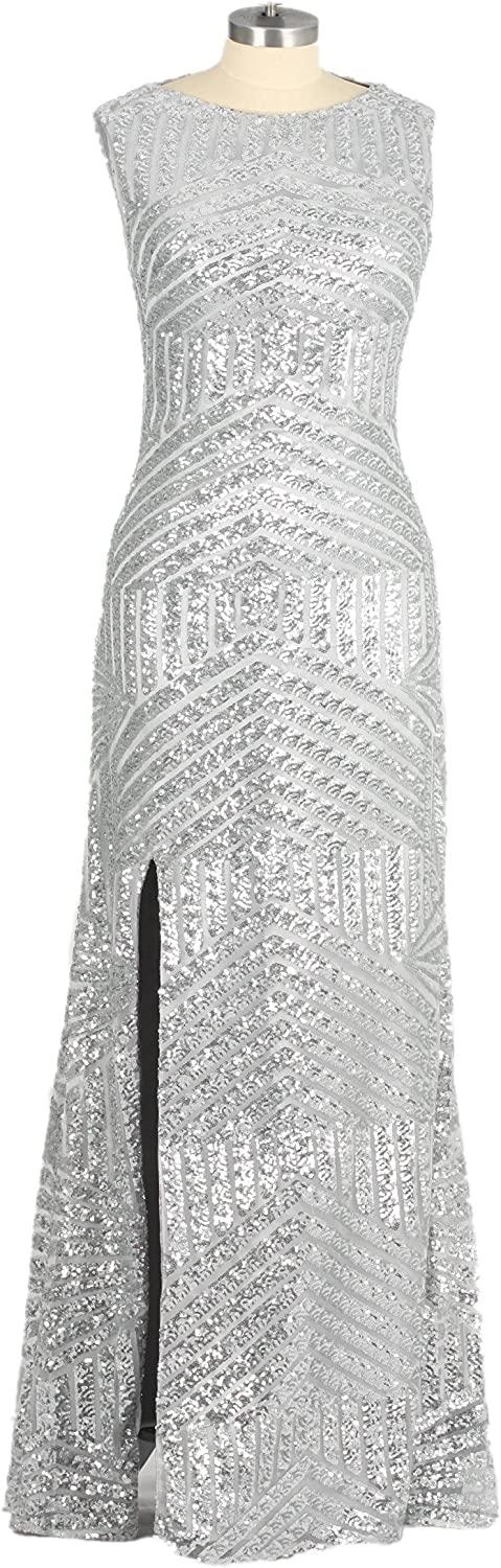 Special Bridal Mermaid Sleeveless Sequined Sparkling Evening Dress