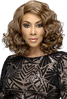 Vivica A Fox Hair Collection Harper Natural Baby Swiss Lace Front Wig Invisible New Futura Fiber Lace Part, 4, 11.1 Ounce