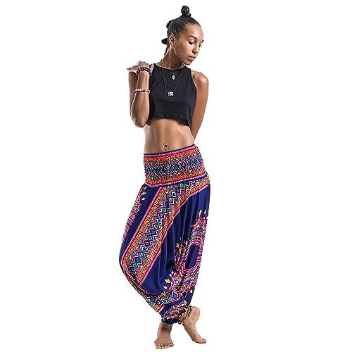 8c6fa669f9a Harem Pants Unisex Dashiki Jumpsuit Harem Pants for Men   Women