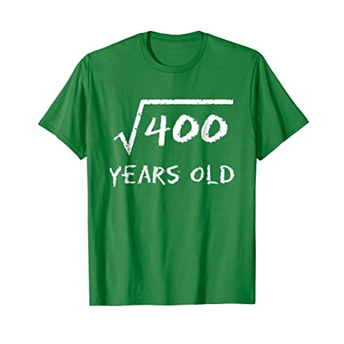 Square Root Of 400 20th Birthday 20 Years Old T Shirt