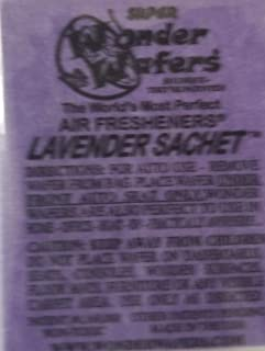 Wonder Wafers 25 CT Individually Wrapped Lavender Sachet Air Fresheners