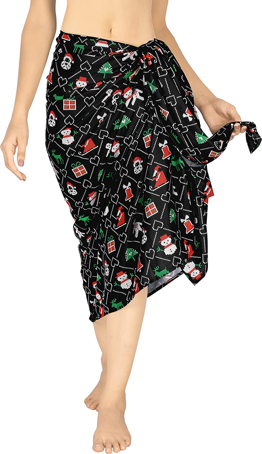 HAPPY BAY Women's Plus Size Bathing Suit Cover Up Beach Full Sarong Full Long