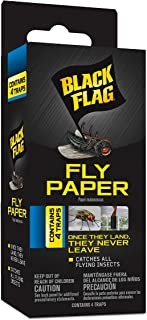 Black Flag HG-11016 Fly Paper, Insect Trap, Ready-to-Use, 4-Count, Case Pack of 24