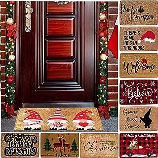 Jinwruny Christmas Door Mat for Front Door, Cute Christmas Doormat, Doormats for Entrance Way Indoor Outdoor Doormat Non S...