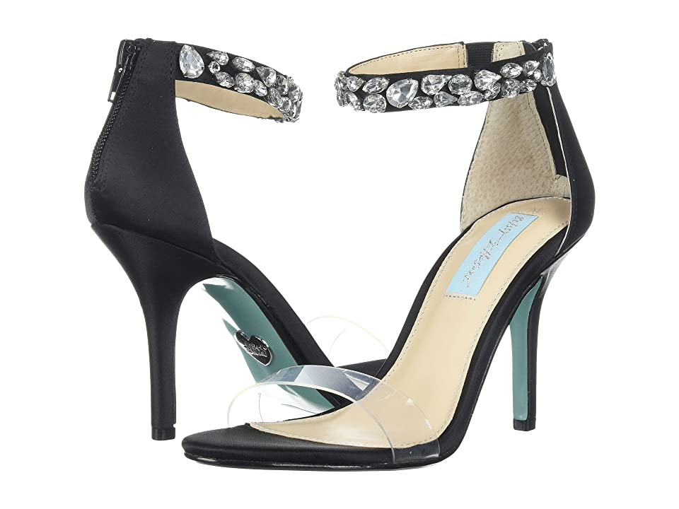 Blue by Betsey Johnson Drew (Black Satin) High Heels