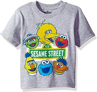 Sesame Street Toddler Boys' Short Sleeve T-Shirt, Heather Grey