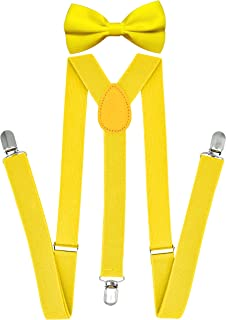 Best yellow suspenders and bowtie set Reviews